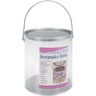 Darice 1212-64 6 5/8-Inch by 7-Inch See-Thru Pail with Handle