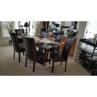 Furniture of America Marion Rectangular Glass Top Dining Table ...
