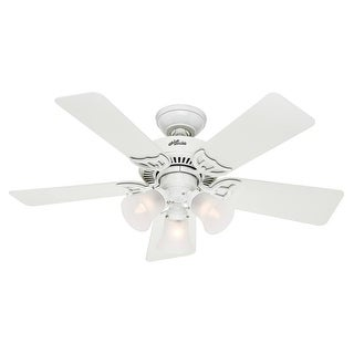 "Hunter Fan 51010 Dual Mount Ceiling Fan, 42"", White"