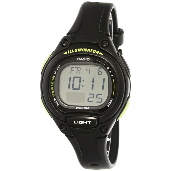 Shop casio women 39 s black resin quartz sport watch free shipping on orders over 45 overstock for Black resin ladies watch