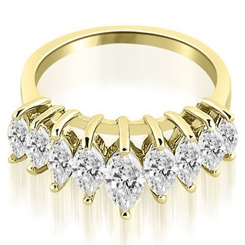 1.75 cttw. 14K Yellow Gold Marquise Diamond Prong Wedding Band