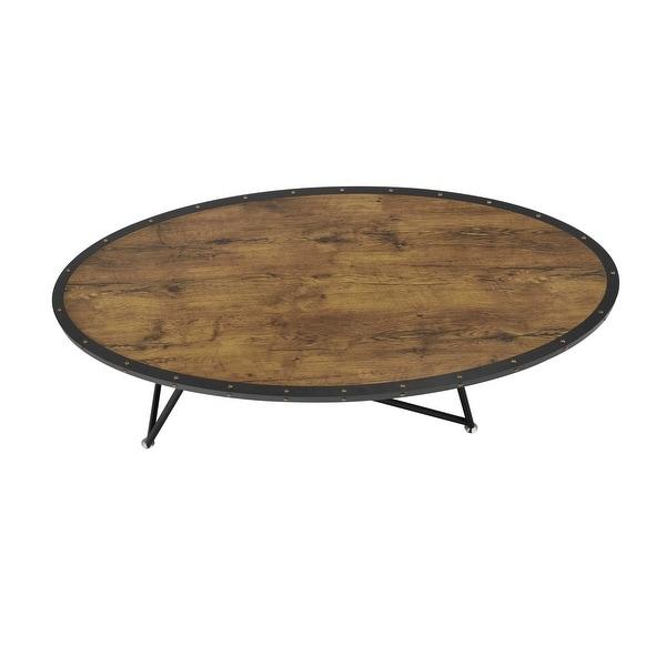 Remarkable Coffee Table In Weathered Dark Oak Particle Board Metal Weathered Dark Oak Download Free Architecture Designs Ferenbritishbridgeorg