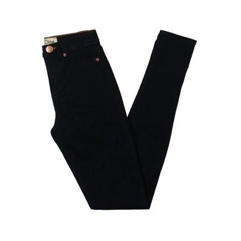 Dittos Womens Juniors Kelly Skinny Jeans Dark Wash High Rise