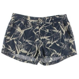 Rachel Rachel Roy Womens Juniors Printed Flat Front Casual Shorts
