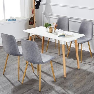 Buy Natural Finish Set Of 4 Kitchen Dining Room Chairs Online At Overstock