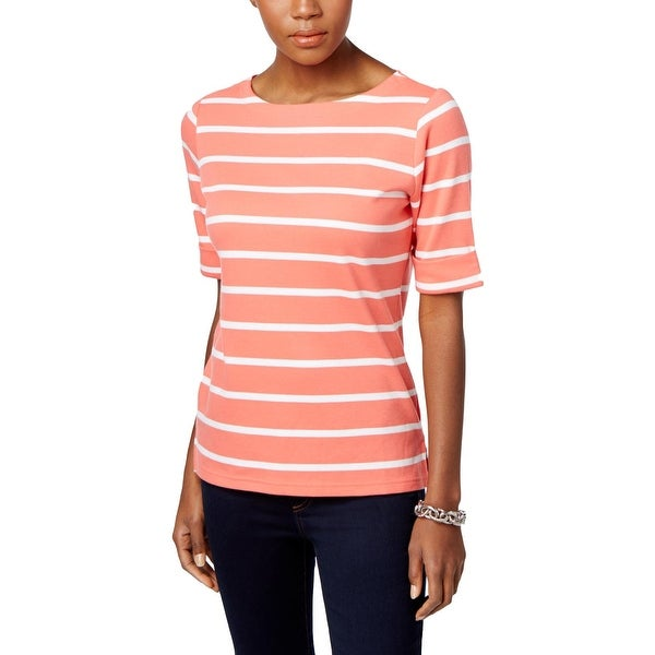 601381699fe19 Shop Karen Scott Womens Petites Pullover Top Striped Boat Neck - pl - Free  Shipping On Orders Over  45 - Overstock.com - 21793217