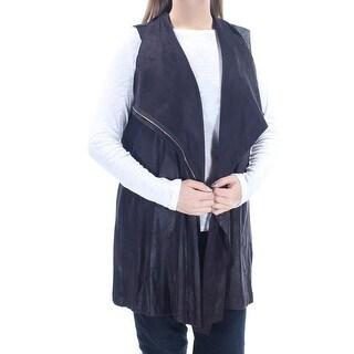 Womens Black Sleeveless Zip Neck Vest Top Size 0X