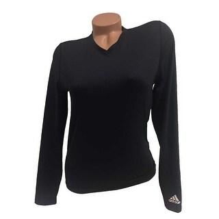 Adidas Team Performance Women's ClimaLite Long Sleeve Tee Black L (Runs Small) - Large