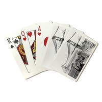 Manhattan Bridge Construction NYC - Vintage Photo (Poker Playing Cards Deck)