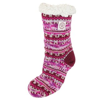 Dearfoams Women's Fairisle Plush Slipper Sock