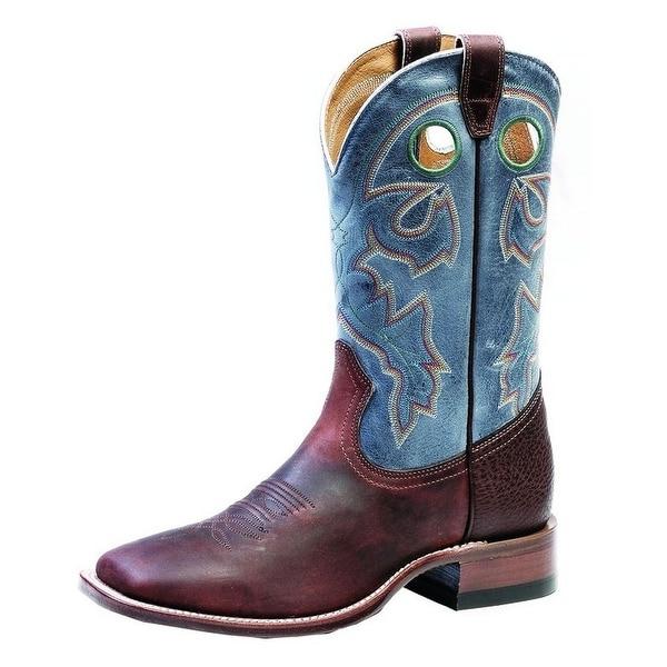 Boulet Western Boots Mens Cowboy Stockman Laid Back Copper Azul
