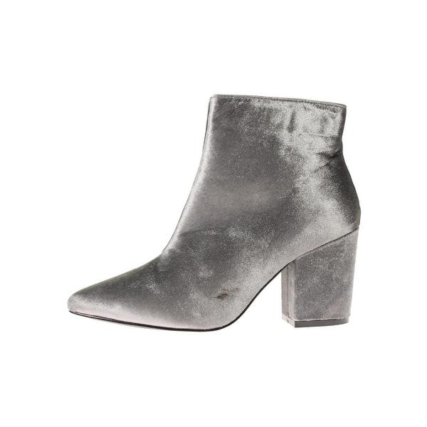 Steve Madden Womens Stable Ankle Boots Velvet Pointed Toe