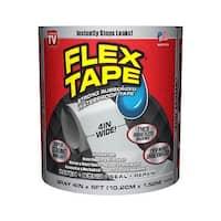 """Flex Tape TFSGRYR0405 Rubberized Waterproof Tape, Gray, 4"""" x 5', As Seen On TV"""