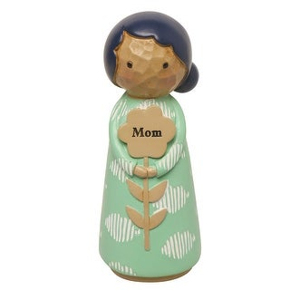 "Japanese Kokeshi Dolls - Mom - 4.5"" High"