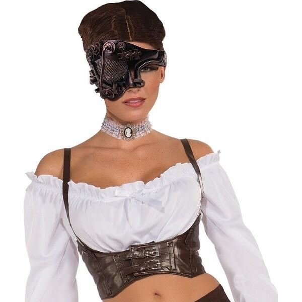 Steampunk Costume Mask Bronze One Eye Adult