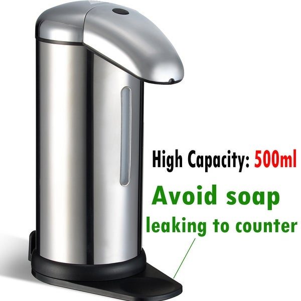 500ml Automatic Soap Dispenser No Touch Touchless Sensor Kitchen Bathroom Liquid Soap Dispenser - SIZE