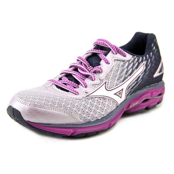 Mizuno Wave Rider 19 Women Round Toe Synthetic Purple Running Shoe