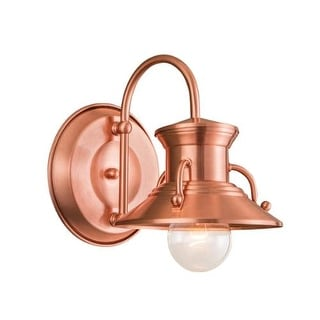 "Norwell Lighting 5153 Budapest Single Light 8"" Tall Outdoor Wall Sconce with Copper Metal Shade"