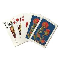 Indian Paintbrush - Letterpress - LP Artwork (Poker Playing Cards Deck)