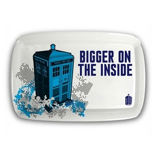 "Doctor Who TARDIS ""Bigger on the Inside"" Serving Tray - Multi"
