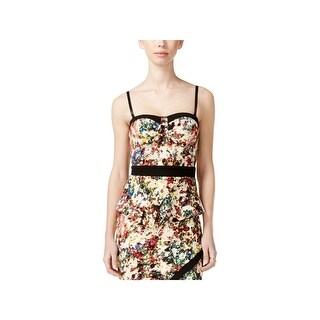 Material Girl Womens Juniors Peplum Top Textured Sleeveless
