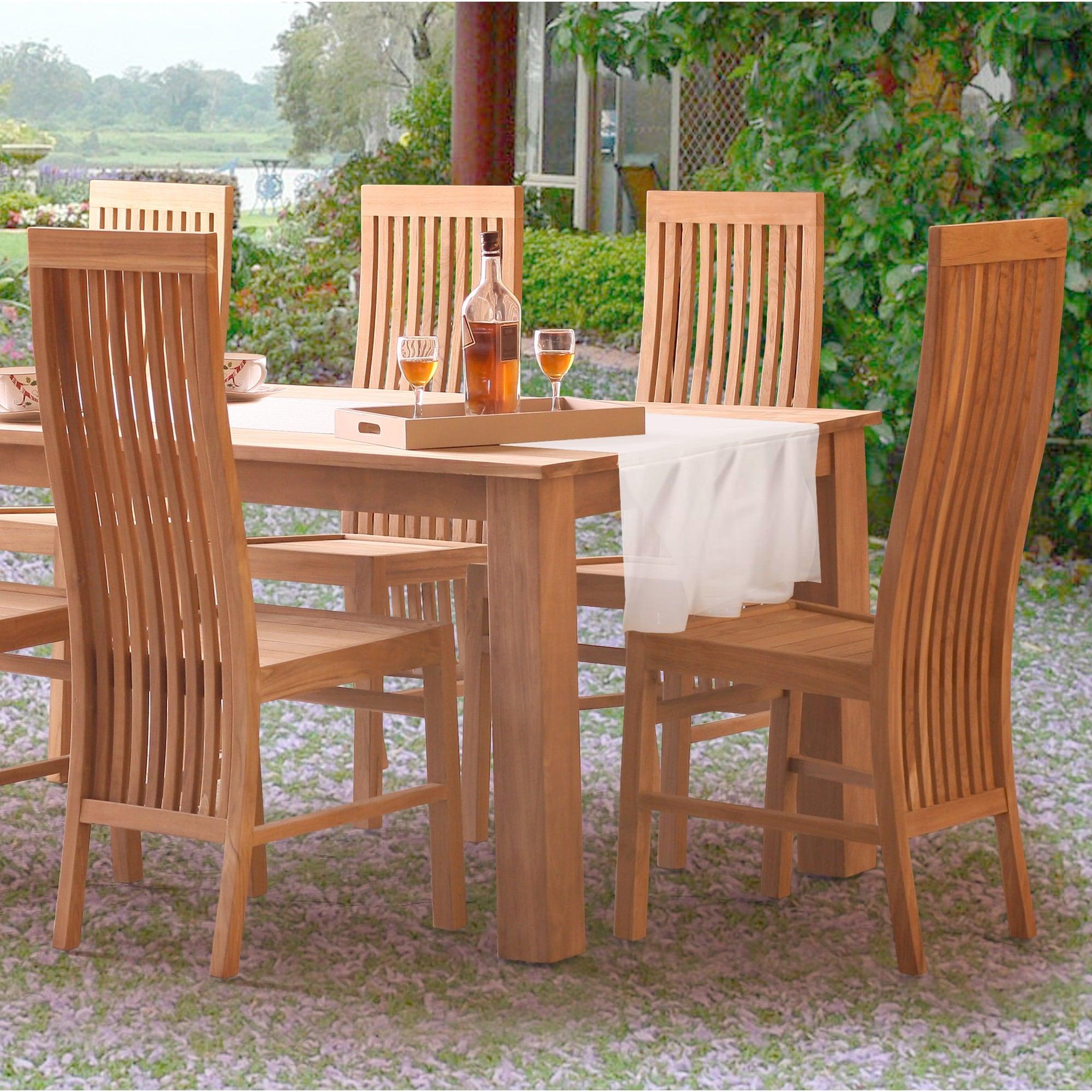 Shop Chic Teak West Palm Teak Wood Indoor Outdoor Dining Side Chair Overstock 31477257