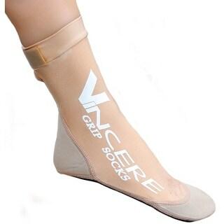 Sand Socks Grip Bottom Neoprene Athletic Socks - Beige