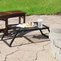 Sunnydaze Portable Heavy-Duty Outdoor Campfire Cooking Grill - 24-Inch - Black|Black