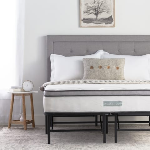 10-inch Hybrid Mattress and Folding Platform Bed Frame Set by Weekender