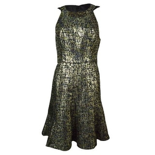 Maggy London Women's Beaded Metallic Tweed A-Line Dress - 6P