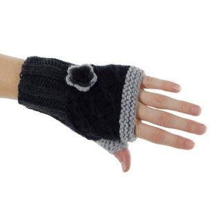 Late for Class Fingerless Gloves With Flower