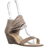 AR35 Carllie Open Toe Wedge Sandals , Taupe