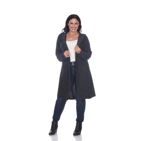 Plus Size Hooded North Cardigan - Charcoal