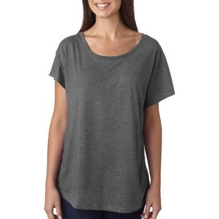 Next Level Women's Tri-Blend Dolman Scoop Neck T-Shirt - Venetian Grey - Small