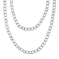 Chisel Stainless Steel Multi Chain 28in Layered Necklace (6 mm) - 28 in