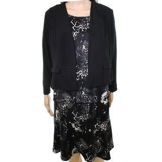 Antthony NEW Black Womens Size 2X Plus 4pc Jacket Top Pant Skirt Set