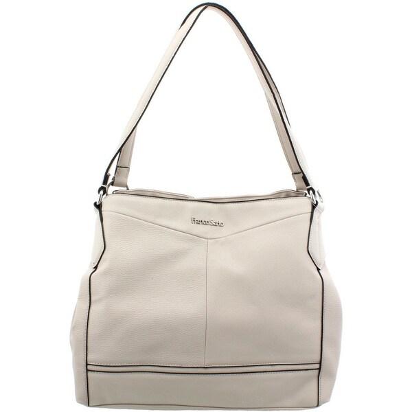 3344b22a5ef7 Franco Sarto Womens Brielle Shoulder Handbag Faux Leather Multi Sectional -  Large