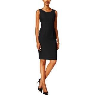 Kasper Womens Wear to Work Dress Crepe Sleeveless
