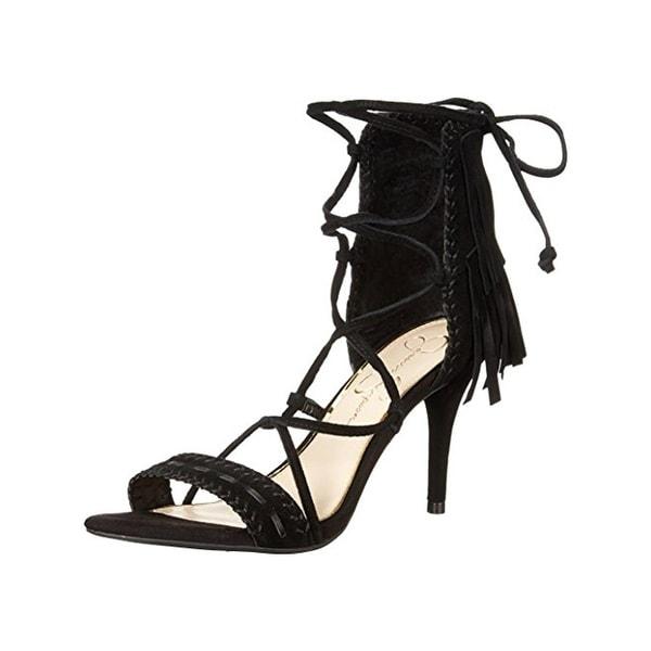 Jessica Simpson Womens Mareya Dress Sandals Suede Heels