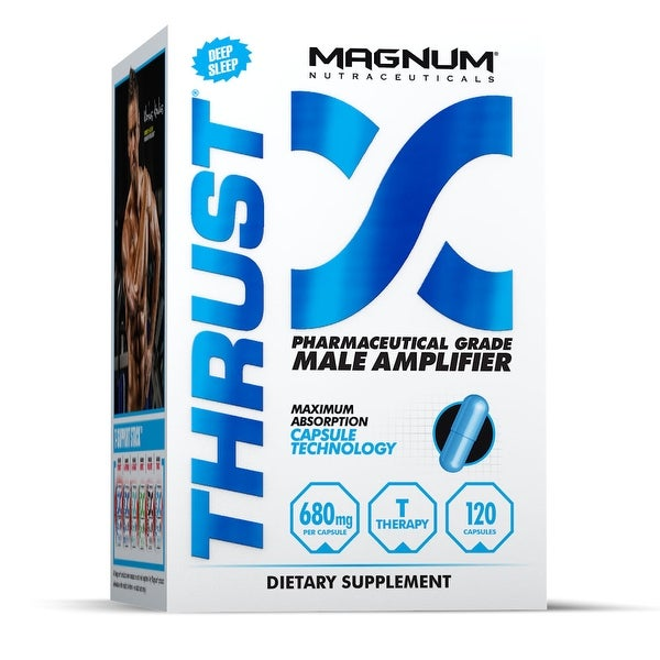 Magnum Nutraceuticals Thrust Male Amplifier - 120 Capsules - Muscle Density - Anti-Aromatase - Testosterone Therapy