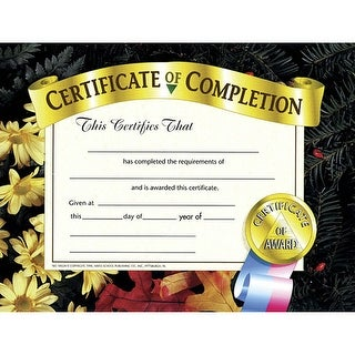 Certificates Of Completion 30 Pk 8.5 X 11
