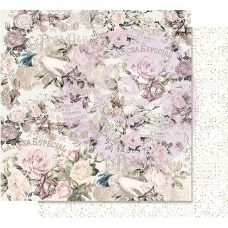 """Lavender Frost Foiled Double-Sided Cardstock 12""""X12""""-Royal Bidding"""