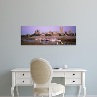 Easy Art Prints Panoramic Images's 'Buildings At The Waterfront, Memphis, Tennessee, USA' Premium Canvas Art