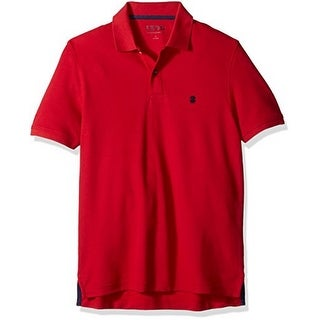 Izod Mens Advantage Performance Solid Polo, Real Red