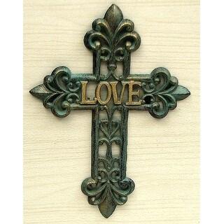 """Cast Iron """"Love"""" Cross"""