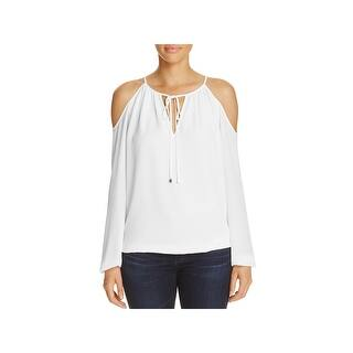 b34f04a75a9d55 Quick View.  44.99. MICHAEL Michael Kors Womens Casual Top Textured Cold  Shoulder. 5 of 5 Review Stars