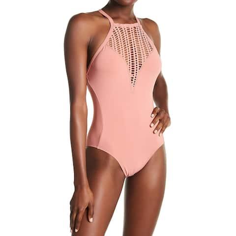 Robin Piccone Womens Sophia Hi-Neck One-Piece Swimsuit