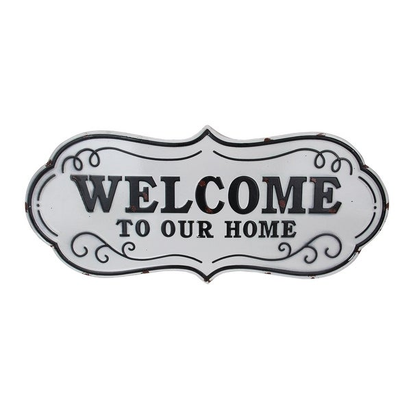 "26.5"" Rustic Weathered ""Welcome to Our Home"" Wall Decoration - N/A"