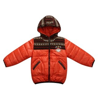 Richie House Boys' Padded Winter Jacket with Knit and Teddy Accents