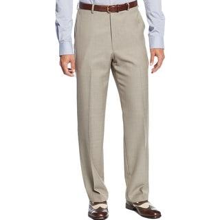 Sean John Mens Dress Pants Flat Front Textured